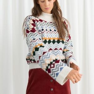 & Other Stories Fairisle Knit Sweater M